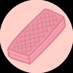 pink wafer transp