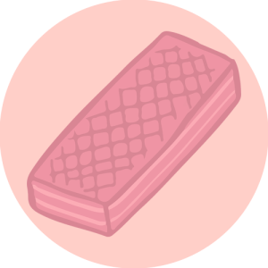 pink wafer transp